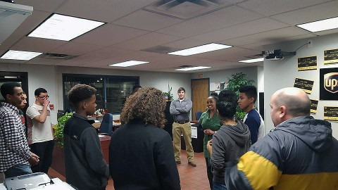 UPS works with LEAP's Career Readiness Program to help students learn about job opportunities.