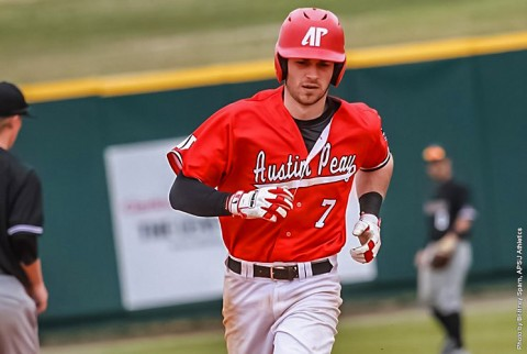 Austin Peay shortstop Clayton Smithson hit his second home run of the season in win over Southern Illinois, Tuesday. (APSU Sports Information)