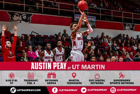 Austin Peay Men's Basketball travels to UT Martin Thursday. (APSU Sports Information)