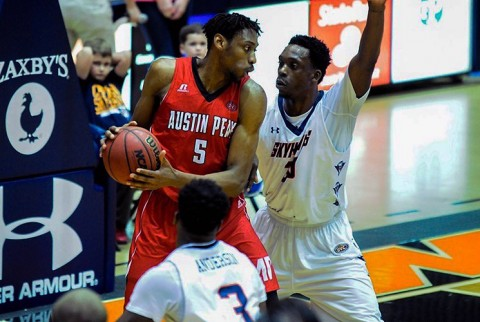 Austin Peay senior Chris Horton joined exclusive company Thursday night. He scored 15 points against the Skyhawks giving him 1500 career points. (UTM Sports Information Office, Alex Boggis)