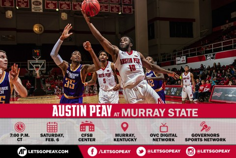 Austin Peay Men's Basketball renews rivalry with Murray State Racers this Saturday night. (APSU Sports Information)