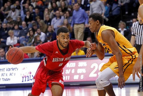 Austin Peay Men's Basketball rallies in final seconds to get 76-73 win at Murray State Saturday night. (APSU Sports Information)