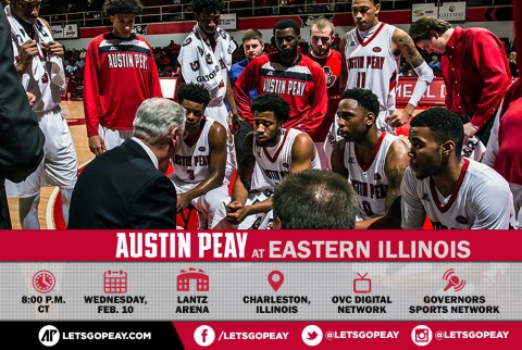 Austin Peay Men's Basketball travel to Eastern Illinois, Wednesday. (APSU Sports Information)