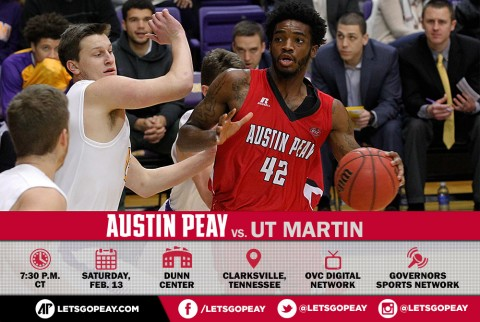 Austin Peay Men's Basketball return to the Dunn Center Saturday to take on the UT Martin Skyhawks. (APSU Sports Information)