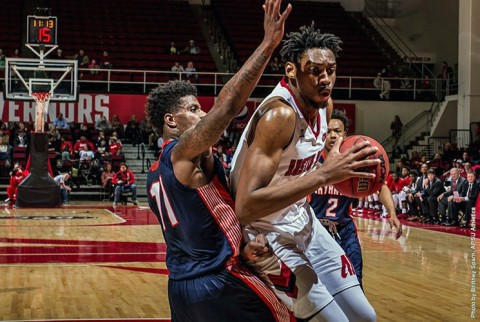 Austin Peay's Chris Horton scored 19 points along with 11 rebounds for his 21st double-double in loss to UT Martin. Horton also had 5 blocked shots. (APSU Sports Information)