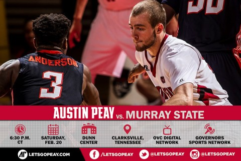 ustin Peay Men's Basketball hosts Murray State Saturday at the Dunn Center. (APSU Sports Information)