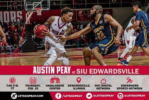 Austin Peay Men's Basketball faces SIU Edwardsville Thursday night at the Vadalabene Center. (APSU Sports Information)