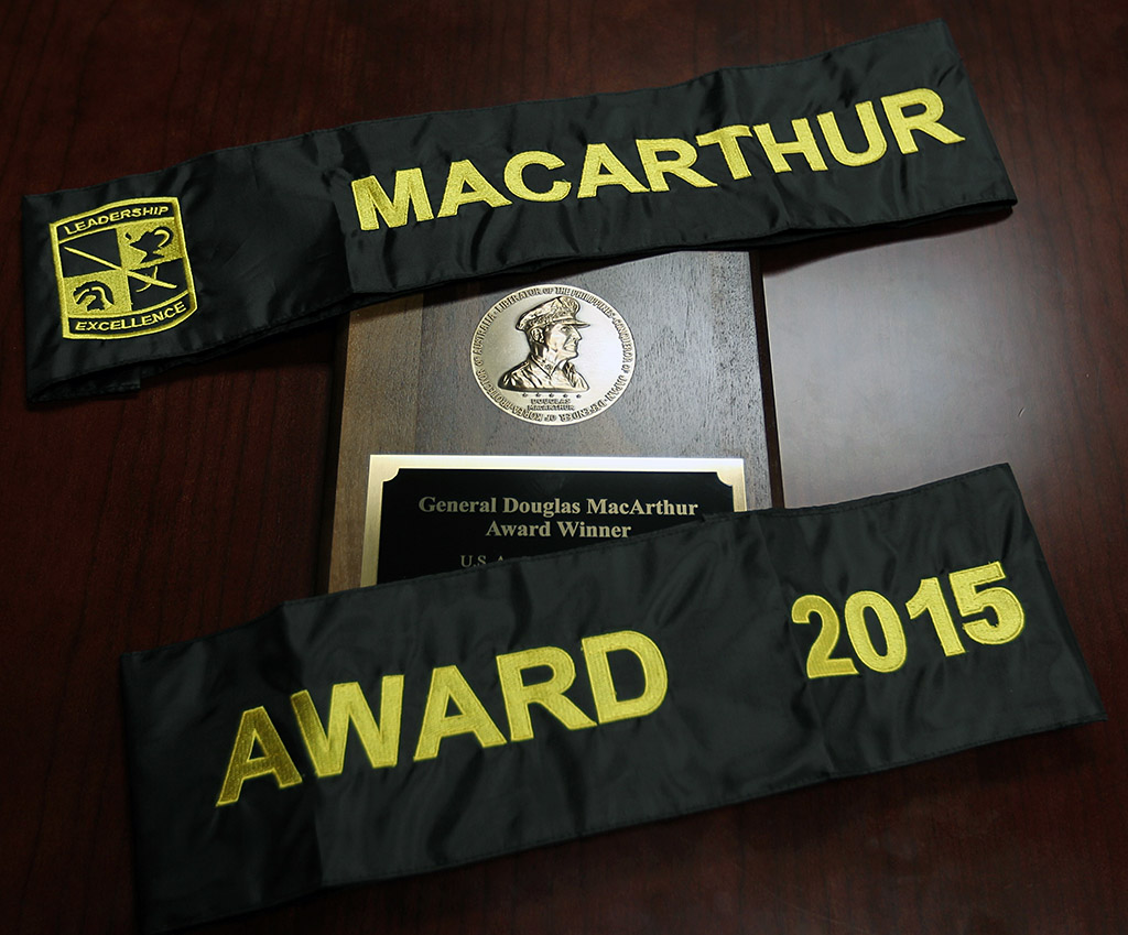 Austin Peay State Univeristy ROCT one of eight winners of the MacArthur Awards for the school year 2014-2015 presented by the U.S. Army Cadet Command. (Michael Maddox, U.S. Army Cadet Command (Army ROTC))