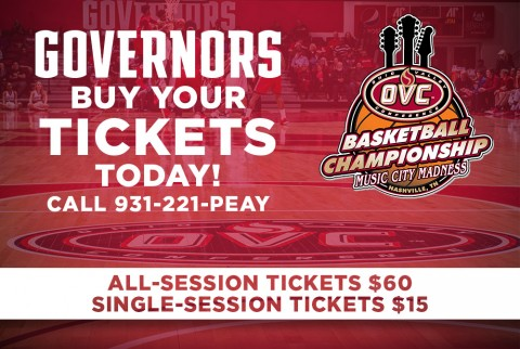 Austin Peay Ticket Office has OVC Tournament tickets on sale now. (APSU Sports Information)