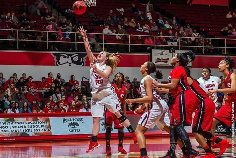 Austin Peay Women's Basketball loses to UT Martin Skyhawks Wednesday night at the Elam Center. (APSU Sports Information)