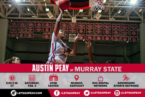 Austin Peay Women's Basketball travels to Murray State Racers, Saturday. (APSU Sports Information)