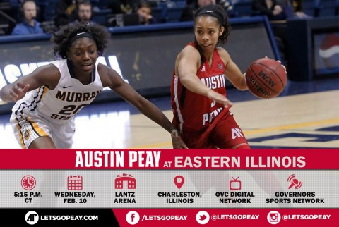 Austin Peay Women's Basketball play final road game at Eastern Illinois, Wednesday. (APSU Sports Information)