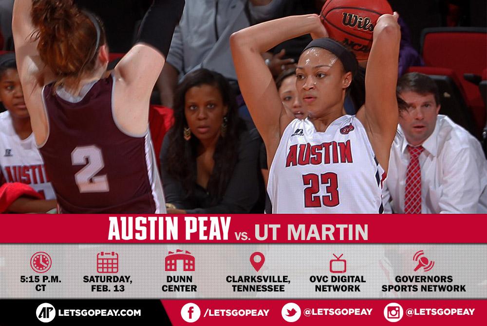 Austin Peay Women's Basketball take on UT Martin Skyhawks at the Dunn Center Saturday. (APSU Sports Information)