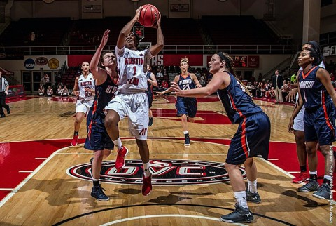 Austin Peay Women's Basketball beats UT Martin at the Dunn Center Saturday, 80-70. (APSU Sports Information)
