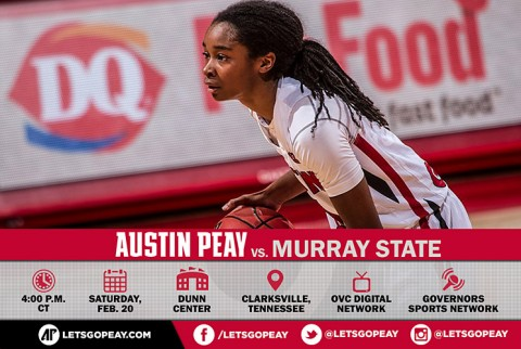 Austin Peay Women's Basketball face Murray State Racers at the Dunn Center, Saturday. (APSU Sports Information)