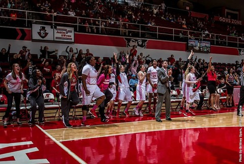 Austin Peay Women's Basketball overcomes slow start to beat Murray State 82-71 Saturday at the Dunn Center. (APSU Sports Information)