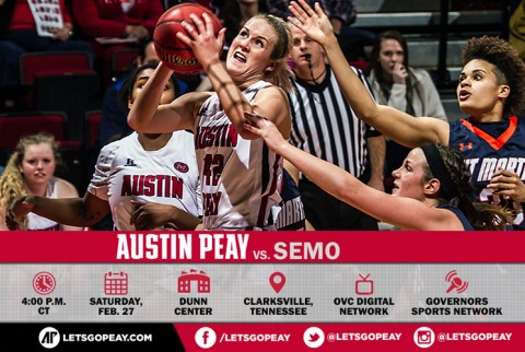 Austin Peay Women's Basketball take on Southeast Missouri on Senior Day at the Dunn Center, Saturday. (APSU Sports Information)
