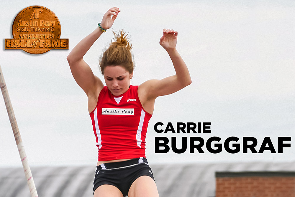Austin Peay Track and Field star Carrie Burggraf to be inducted to APSU Hall of Fame. (APSU Sports Information)