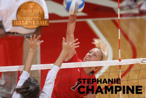 Austin Peay to induct volleyball great Stephanie Champine into APSU Athletics Hall of Fame Saturday. (APSU Sports Information)