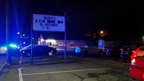 Clarksville Police respond to a person being shot at Scott's Multipurpose Center early this morning. (CPD Sgt Melissa Spielhagen)