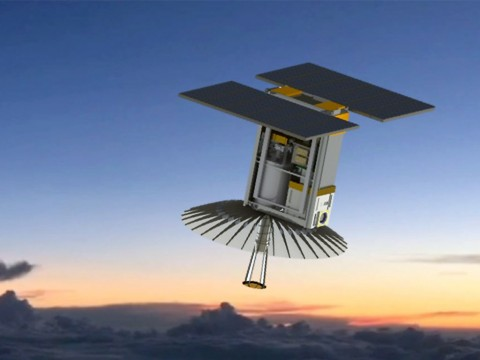 An illustration of RainCube, enabling precipitation observations from space in a CubeSat platform. (RainCube team)