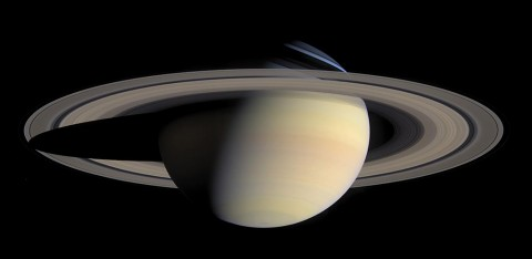 The B ring is the brightest of Saturn's rings when viewed in reflected sunlight. (NASA/JPL-Caltech/Space Science Institute)