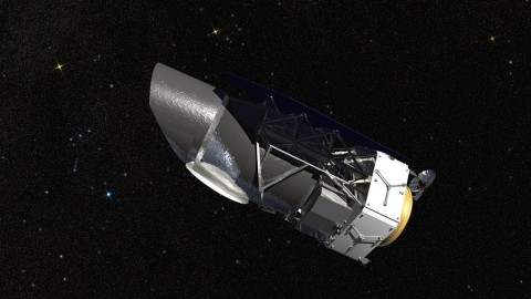 WFIRST, the Wide Field Infrared Survey Telescope, is shown here in an artist's rendering. It will carry a Wide Field Instrument to provide astronomers with Hubble-quality images covering large swaths of the sky, and enabling several studies of cosmic evolution. (NASA)