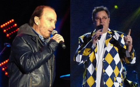 Lee Greenwood and Vince Gill. (Rich Lynch)