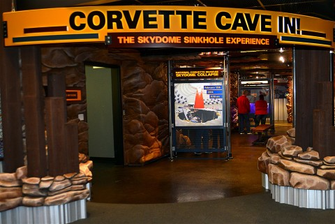 National Corvette Museum Cave-In Exhibit. (National Corvette Museum)