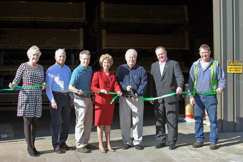 Green Ribbon Cutting for Superior Distribution.