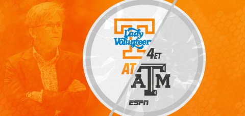The #23/25 Tennessee Lady Vols (14-8, 5-4 SEC) will look for a road victory as they take on #12/11 Texas A&M (15-7, 5-4 SEC) on Sunday. (UT Athletics Department)