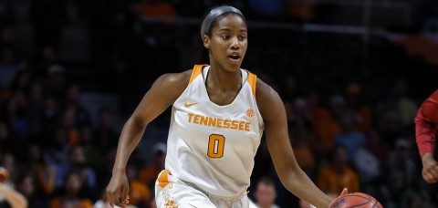 Tennessee Lady Vols junior guard Jordan Reynolds scores a career-high 16 points in the loss to Texas A&M. (Donald Page/Tennessee Athletics)