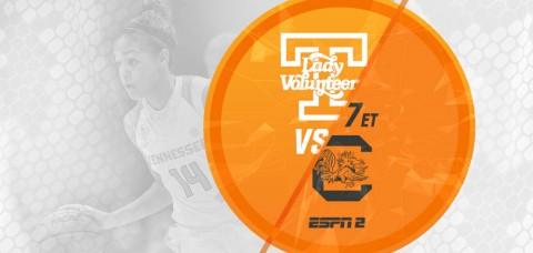 Tennessee Lady Vols hosts South Carolina Monday night. (UT Athletics Department)