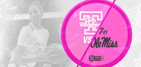 "Tennessee Women's Basketball will play Ole Miss in the ""Live Pink, Bleed Orange"" breast cancer awareness game on Thursday. (UT Athletics Department)"