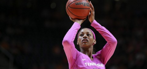 Tennessee Lady Vols' Bashaara Graves posts a double-double with 15 points and 12 rebounds as UT defeats Rebels for 28th-straight time. (Donald Page/Tennessee Athletics)
