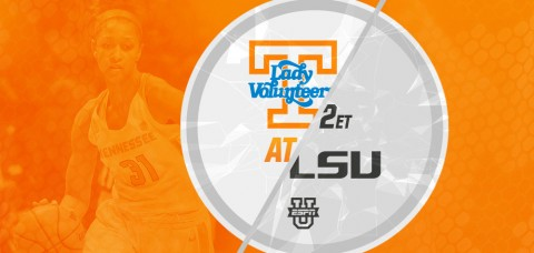 #24/RV Tennessee Lady Vols (16-10, 7-6 SEC) hit the road to take on LSU (8-18, 2-11 SEC) at 1:00pm CT/2:00pm ET Sunday. (UT Athletics Department)