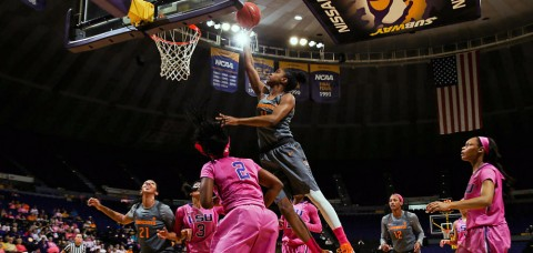 Tennessee Lady Vols rallied and took the lead after trailing by as much as 14, but the LSU Tigers came away with the victory Sunday afternoon. (Donald Page/Tennessee Athletics)
