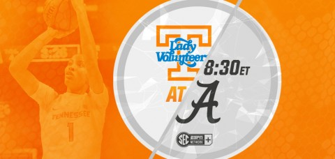 The Tennessee Lady Vols will play their final road game of the year against the Alabama Crimson Tide on Thursday at 8:30pm ET/7:30pm CT on SEC Network + (Online). (UT Athletics Department)