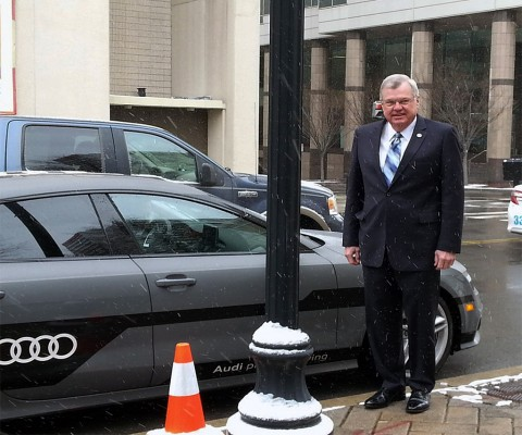 Tennessee State Representative Curtis Johnson with the Audi-A-7.
