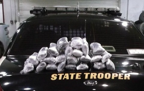 Crystal Meth seized by Trooper Scott on Interstate 40 in Knox County.