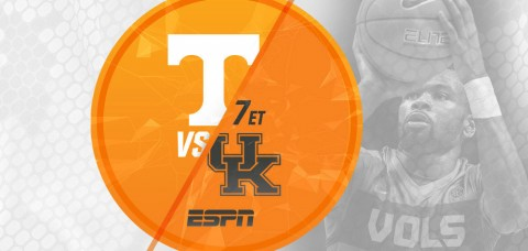 Tennessee Volunteers take on Kentucky Tuesday at Thompson-Boling Arena. Tipoff set for 7:00pm ET/6:00pm CT on ESPN as part of Super Tuesday. (UT Athletics Department)