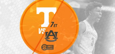 Tennessee Vols hosts the Auburn Tigers on Tuesday at 7:00pm ET/6:00pm CT at Thompson-Boling Arena. (UT Athletics Department)