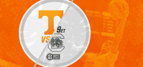 Tennessee Men's Basketball at South Carolina. Tip off is set for 9:00pm ET/8:00pm CT on the SEC Network. (UT Sports Information)