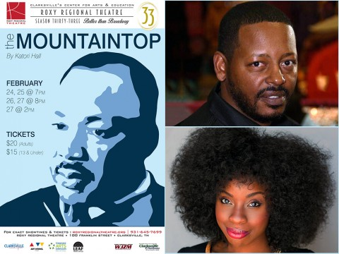 """The Mountaintop"" at the Roxy Regional Theatre stars Phillip Bernard Smith and Mariah Sade Ralph."