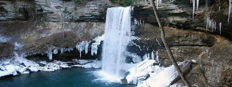 Winter Waterfall Tour at Fall Creek Falls and South Cumberland State Park. (Tennessee State Parks)