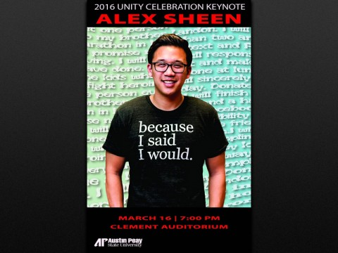 2016 APSU Unity Celebration keynote speaker Alex Sheen
