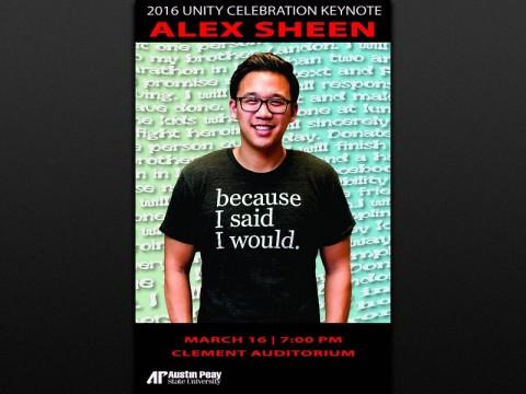 2016 APSU Unity Celebration keynote speaker Alex Sheen