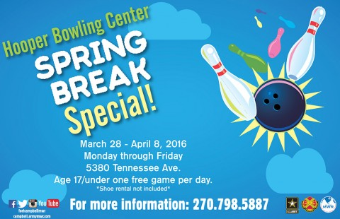 Fort Campbell Hooper Bowling Center to offer Spring Break Special
