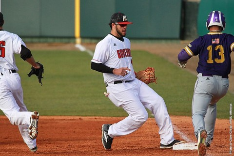 Austin Peay Baseball blows 8-1 lead over Mercer, lose 13-12 Saturday afternoon. (APSU Sports Information)