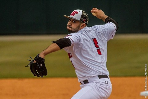 Austin Peay starting pitcher Alex Robles gets first win ever against Eastern Illinois Friday at Raymond C. Hand Park. (APSU Sports Information)